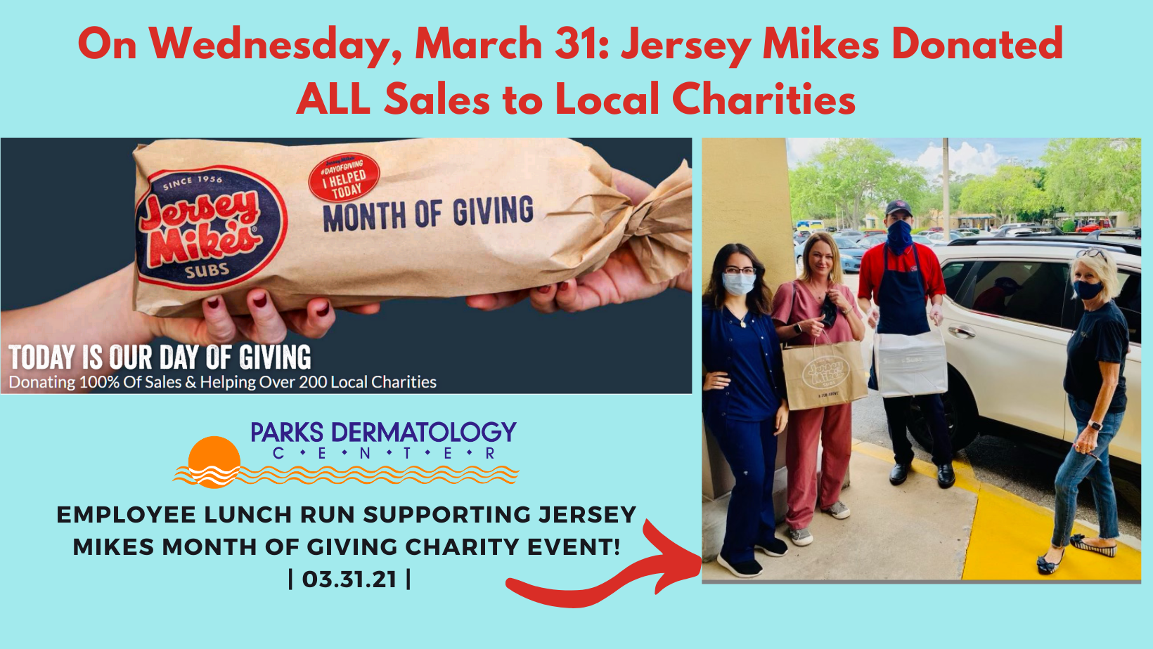 Jersey MIkes Charity Event